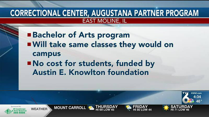 East Moline Correctional Center launches prison education program with Augustana College
