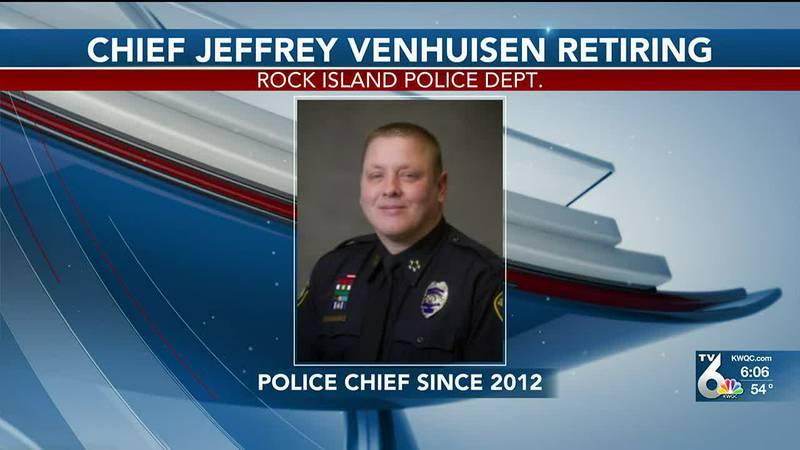 Rock Island Police Chief Jeff Venhuizen is retiring.