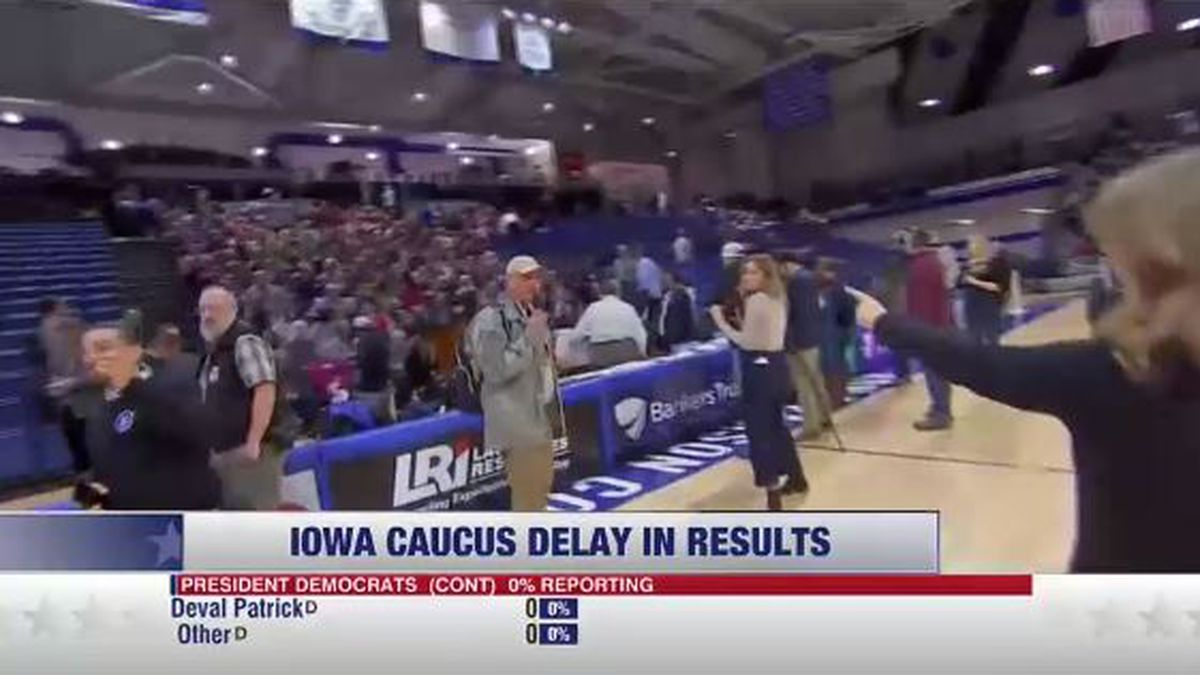 """The Iowa caucuses are officially underway. Results for the GOP caucuses are at 100 percent, but Democrats have barely made a dent in their reported results due to """"inconsistencies in reporting."""""""