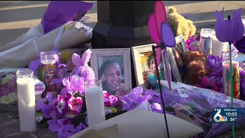Hundreds gathered Thursday night to remember 10-year-old Breasia Terrell at a balloon memorial...