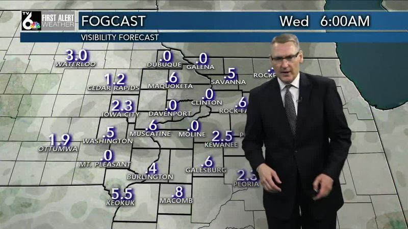 First Alert Forecast - Fog and rain into our Wednesday