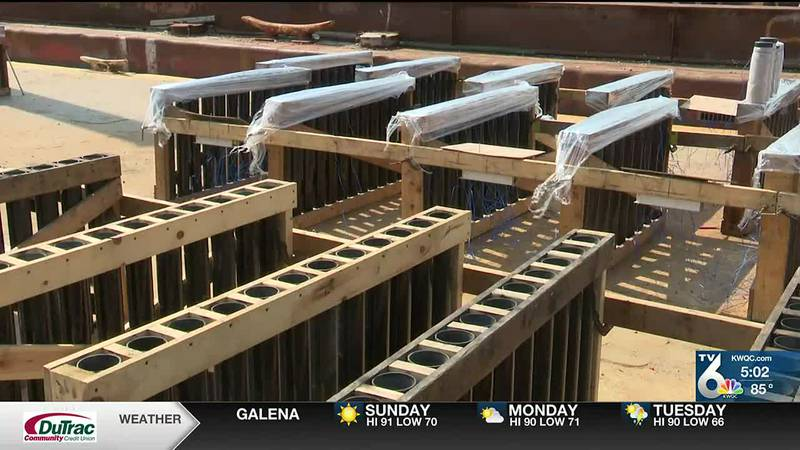 Crews prepare barges for Red, White & Boom