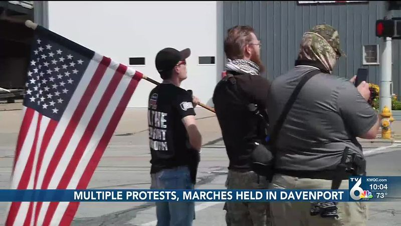 Multiple protests in Davenport Saturday