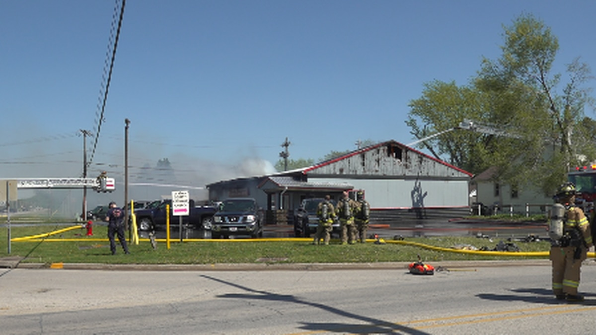 Flames were said to have been over 20 feet high.