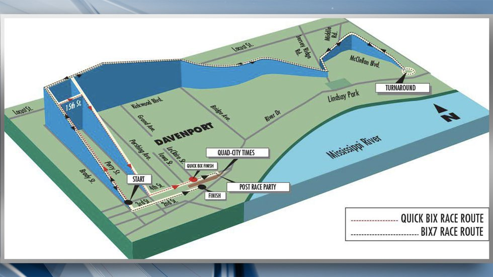 The course itself will have the race starting at the intersection of Brady & 4th streets and...