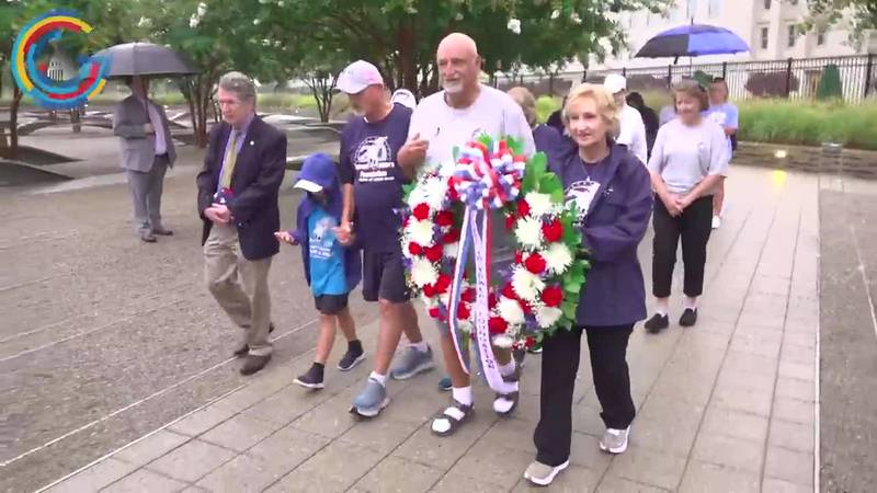 Frank Siller and his family lay wreath at the Pentagon.