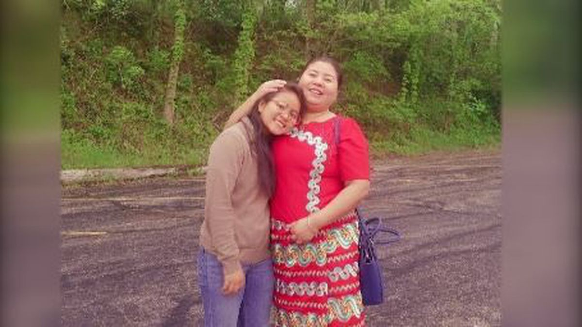 Malaysian refugees Hanna Niang and her mother before they moved to the United States.