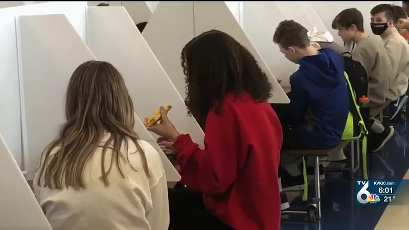 PV going back to school 100 percent in-person, using dividers during lunch