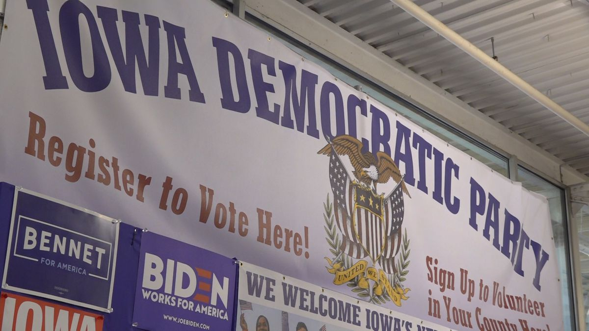 The Iowa Democratic Party set up a booth at the Iowa State Fair from August 8-18, 2019. (Source: Gray DC)