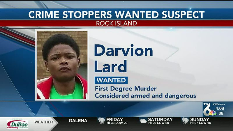 Officials with Crime Stoppers of the Quad Cities say the 21-year-old is wanted for first-degree...