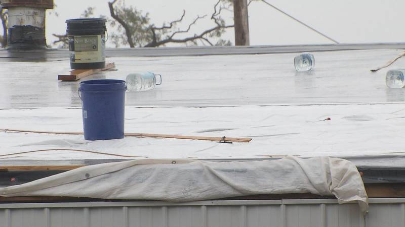 Clean up after last month's derecho is on hold because of this week's rain, and that's...