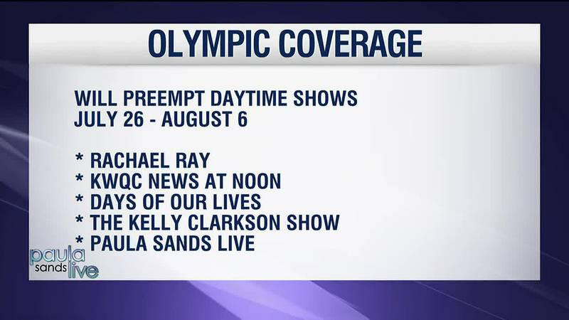 NBC's Summer Olympics Coverage will preempt TV6 programming