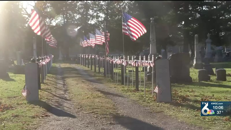 Davenport City Cemetery honors previously unrecognized Civil War soldiers on Veterans Day