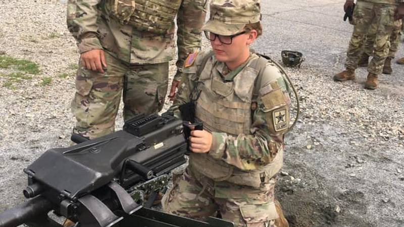Pfc. Taylor Patterson returned from basic training at Fort Benning in Georgia last month and is...