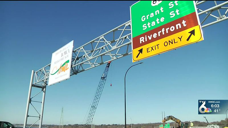 Iowa-bound portion of I-74 Bridge scheduled to open this week