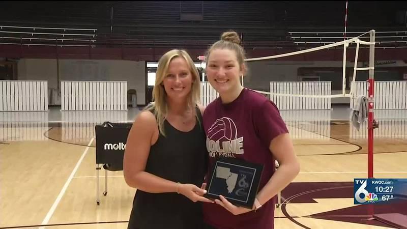 Moline volleyball star Ella Ramsay is the TV6 Spotlight Athlete of the Week