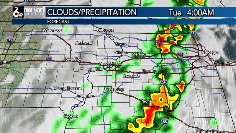 Rain Tuesday Morning