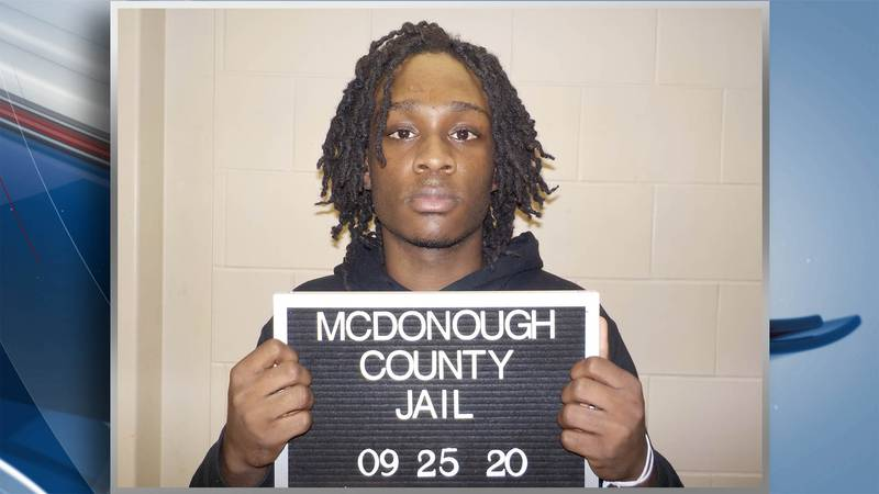 Kavion K. Poplous, 18, a freshman at Western Illinois University, is charged with two counts of...