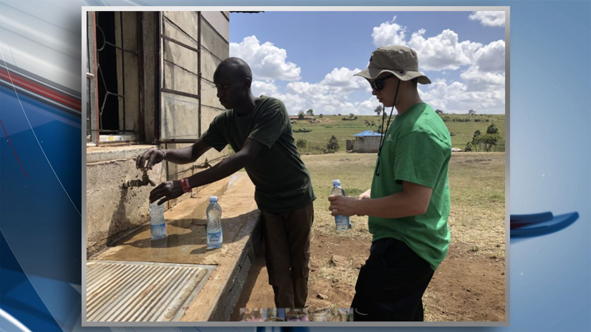 Students with Davenport West High School are currently in Kenya hoping to detect any traces of...
