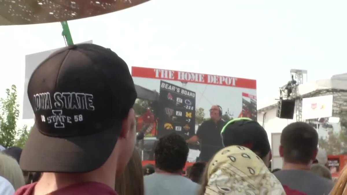 The party started early in Ames as ESPN's College GameDay returned.