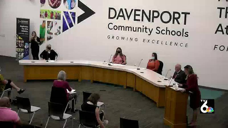 Candidates for the Davenport school board talk about diversity of school staff during a forum...