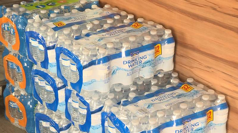 Bottled water and items are already being dropped off.