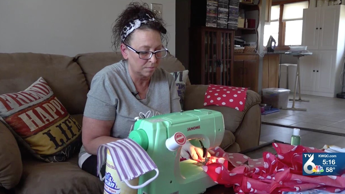 Leslie Williams from Moline, Illinois is making masks for police, firefighters, and anyone who wants them.