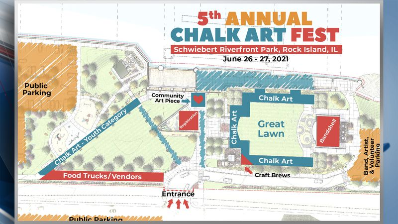 On Tuesday officials with the Quad City Arts announced the full schedule for Chalk Art Fest in...