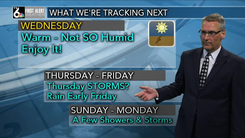 First Alert Forecast - Low humidity and still warm Wednesday