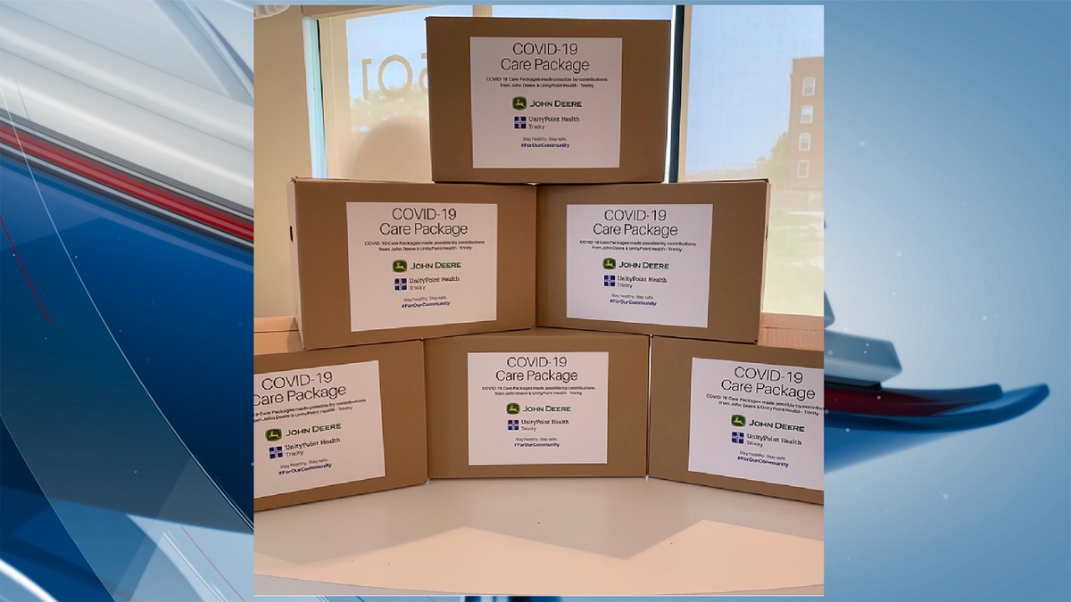 UnityPoint Health and John Deere are teaming up to provide 1,000 COVID-19 care packages to families impacted by the pandemic. (KWQC)