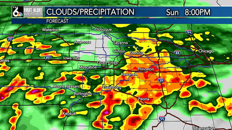 Enjoy the sunshine now, because it's going to get stormy and soggy Sunday.