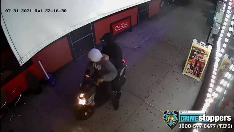 This surveillance video shows the suspects in a mass shooting in New York City that left 10...