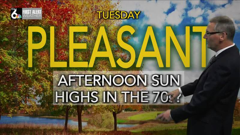 First Alert Forecast- Another mild day Tuesday!