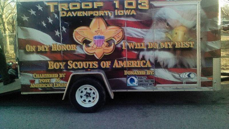 It was being stored at the American Legion in Davenport when it turned up missing.