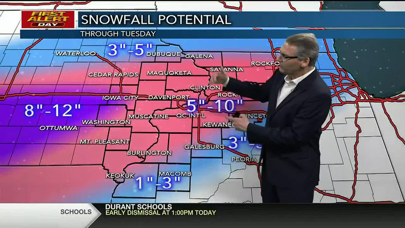 FIRST ALERT DAY FOR HEAVY SNOW