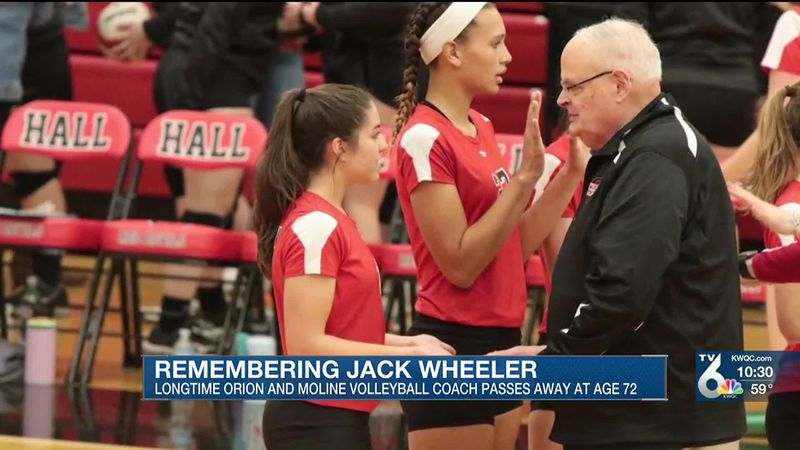 Former Orion and Moline volleyball coach Jack Wheeler is being remembered for his high character