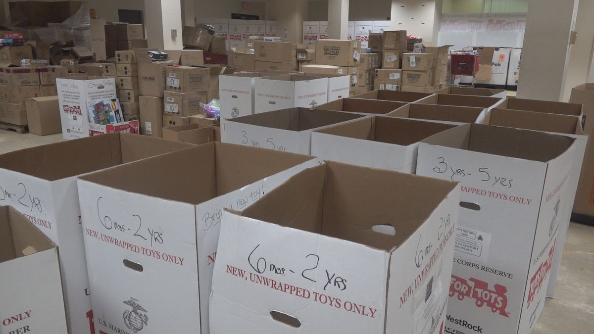 The Quad Cities Toys for Tots said it's running low on donations this year. (KWQC)