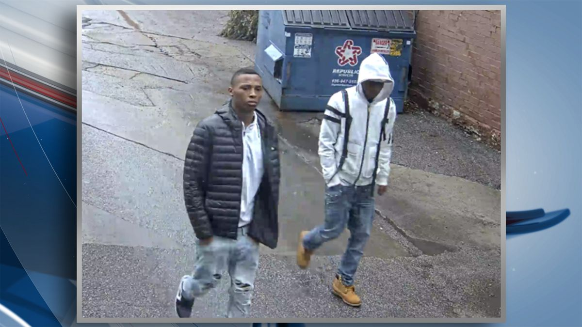 Police say the two pulled a 79-year-old woman out of her vehicle in the 4500 block of Laclede Avenue on Wednesday morning. If you recognize either of these suspects, please call CrimeStoppers at 866-371-TIPS (8477). (KWQC/St. Louis Metropolitan PD)