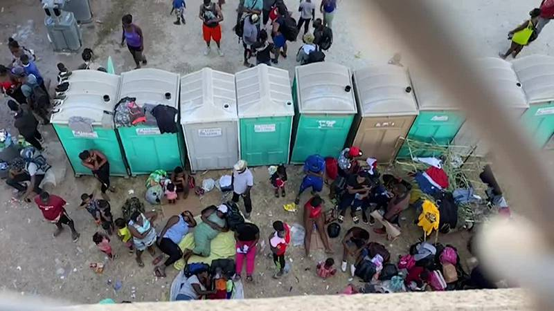Some 10,000 migrants are sheltering under an international bridge trying to get into the U.S.