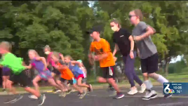 For seven-and-a-half-year-old Jackson, being in the training run is a reminder he's a regular...