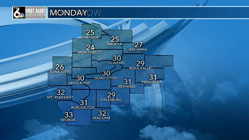 Highs in the low 30s