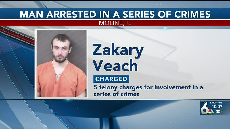 A 23-year-old man has been arrested on five felony charges following multiple incidents in...