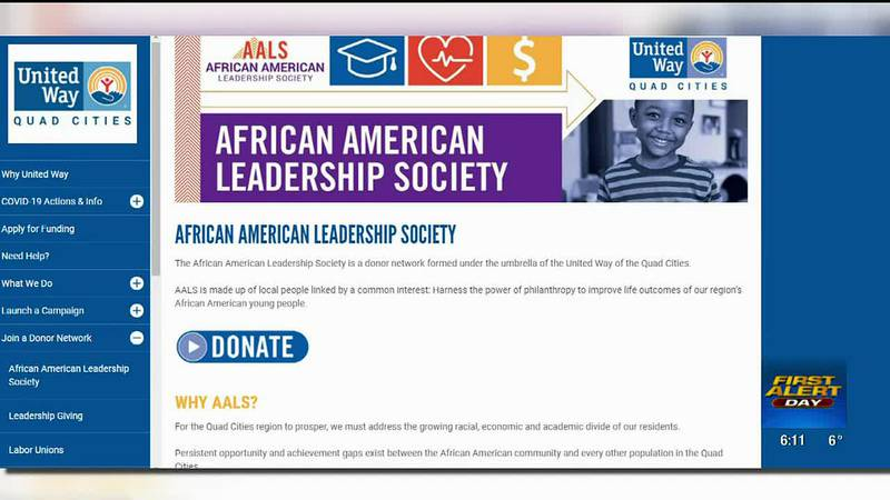 United Way's African American Leadership Society's education equity efforts