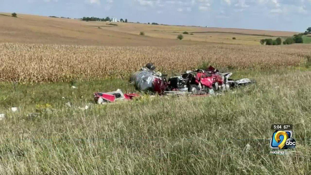 An Indiana man was killed in a crash involving a semi in Clayton County Sunday afternoon.