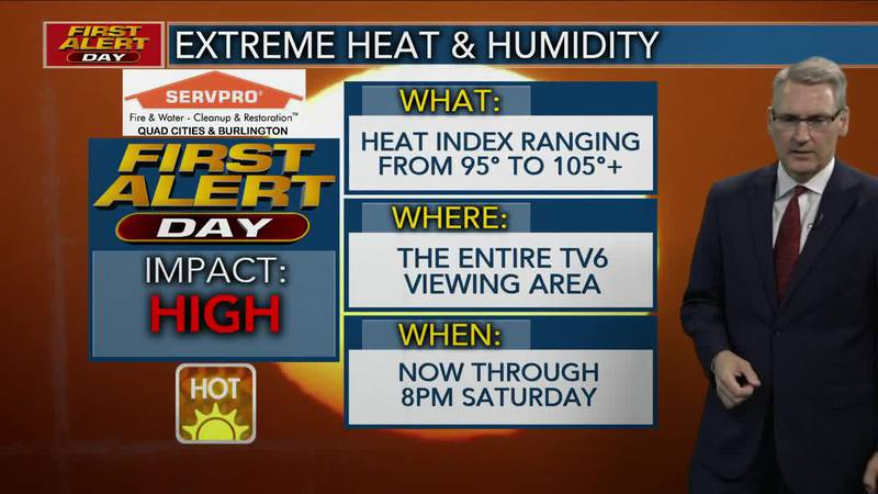 First Alert Forecast - 100+ Heat Indexes return Saturday