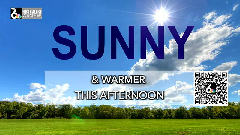 After a crisp, cool start, look for sunny and pleasant weather today.