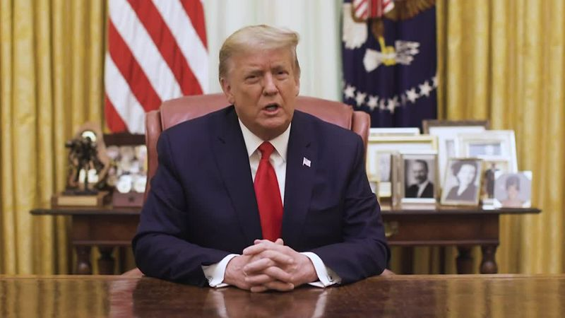 AP source: President Donald Trump to leave Washington, D.C. Wednesday morning, before...