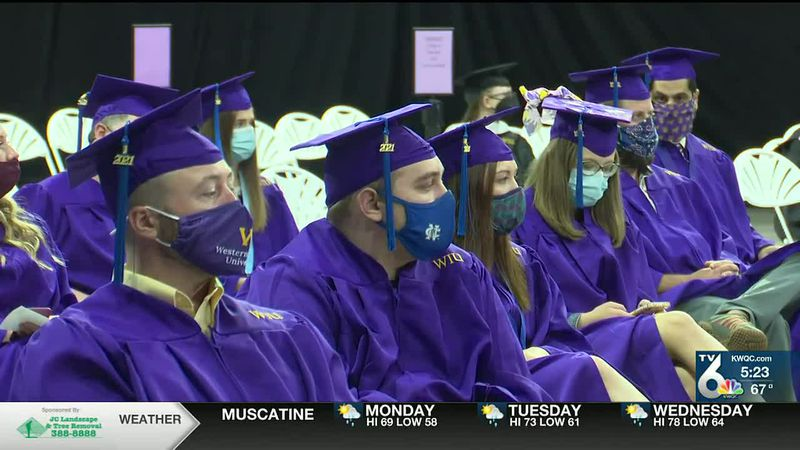 WIU holds one of first in-person graduation ceremonies since 2019