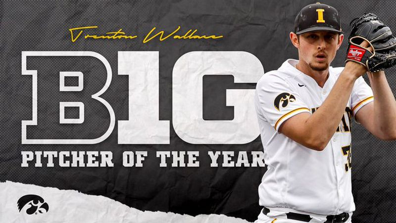 Trenton Wallace wins Big Ten Pitcher of the Year