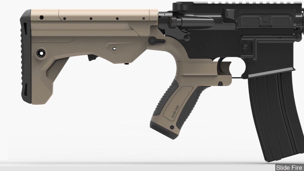 A bump stock rifle modification for an AR-15